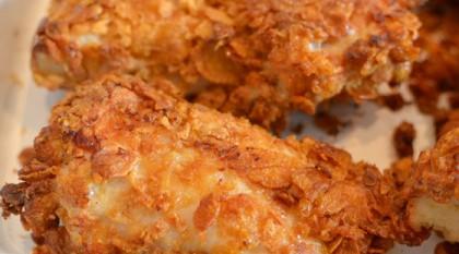Sprød kylling med cornflakes